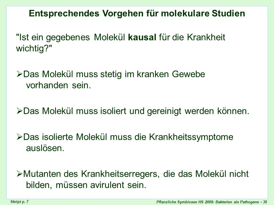 Molekulare Version Kochsche Postulate