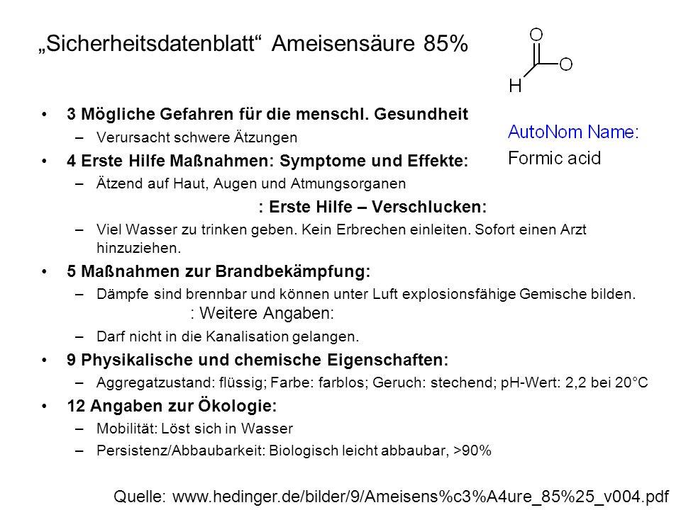 """Sicherheitsdatenblatt Ameisensäure 85%"