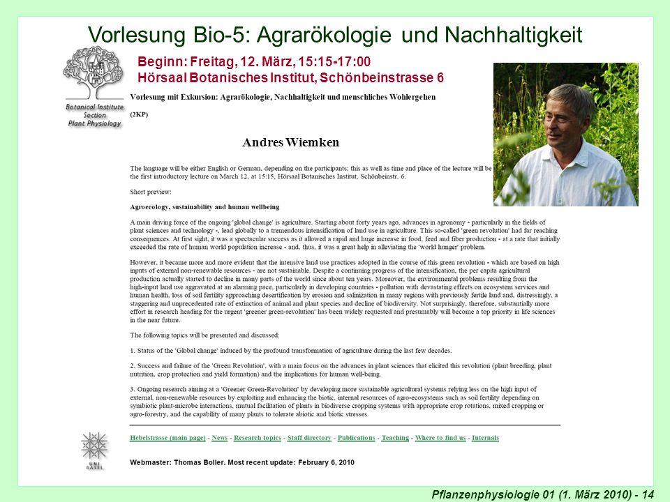Agrarökologie und Nachhaltigkeit
