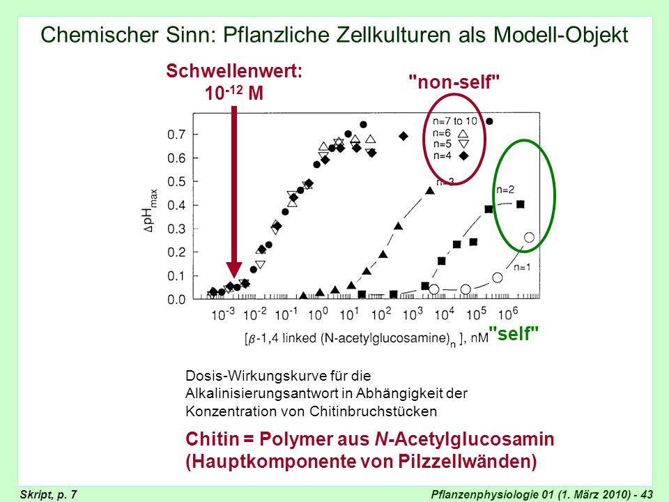 Chemischer Sinn: Pflanzliche Zellkulturen als Modell-Objekt