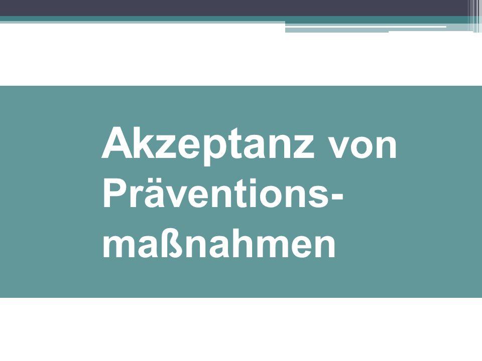 Akzeptanz von Präventions-