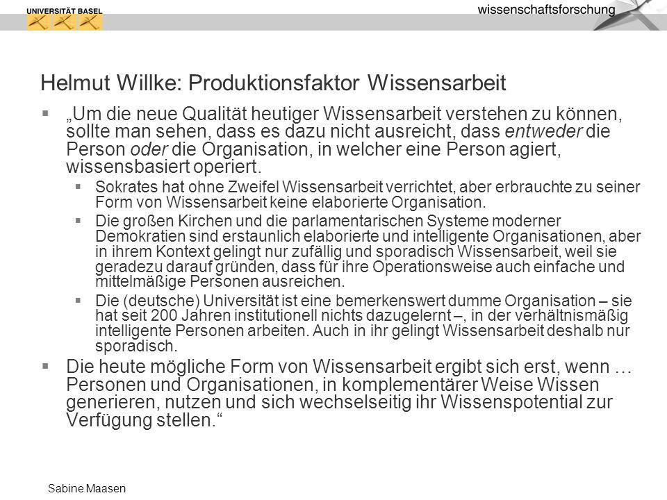 Helmut Willke: Produktionsfaktor Wissensarbeit