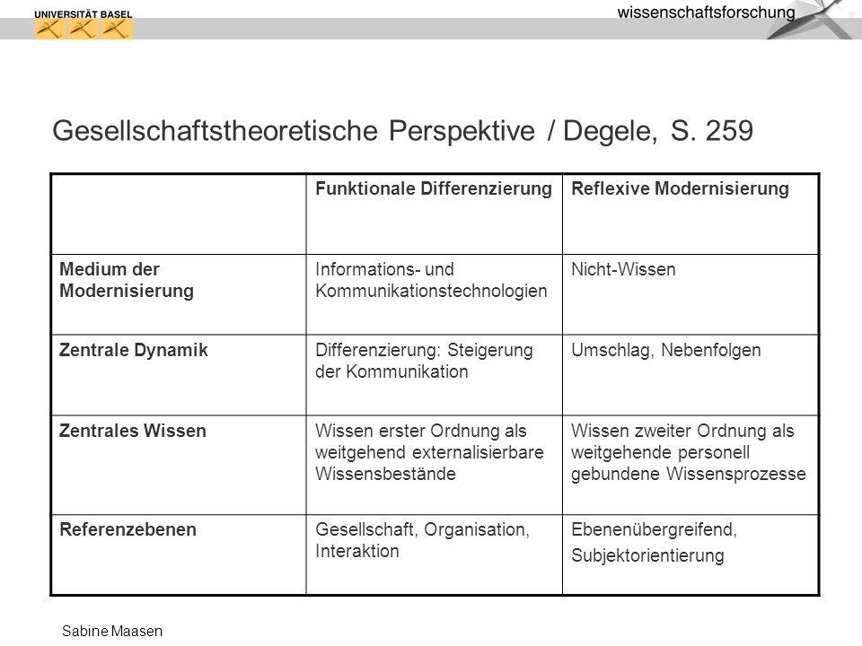 Gesellschaftstheoretische Perspektive / Degele, S. 259