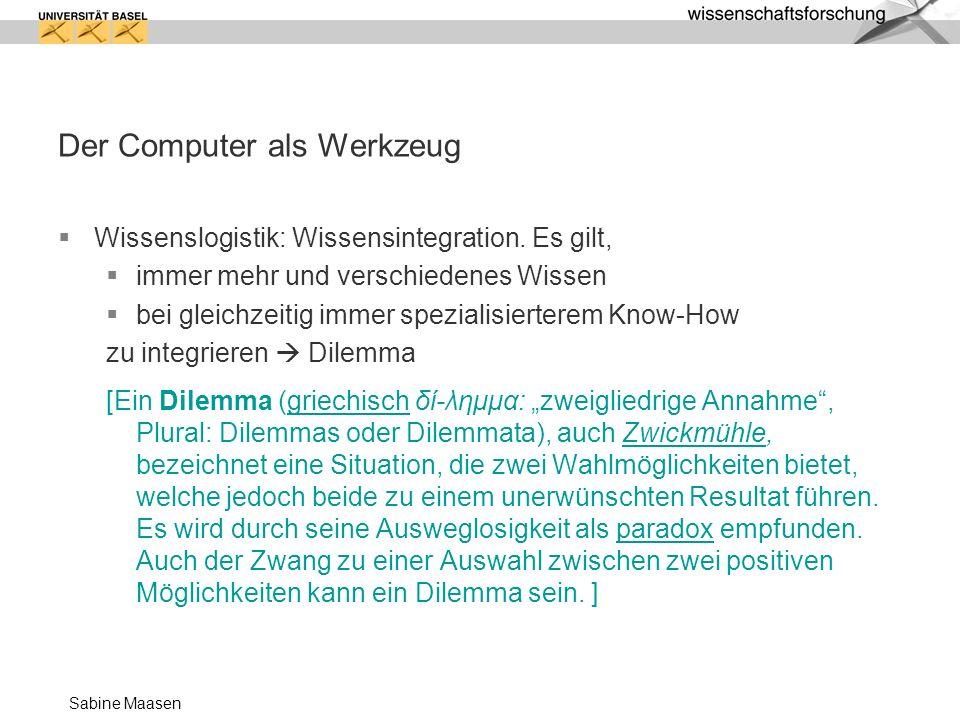 Der Computer als Werkzeug