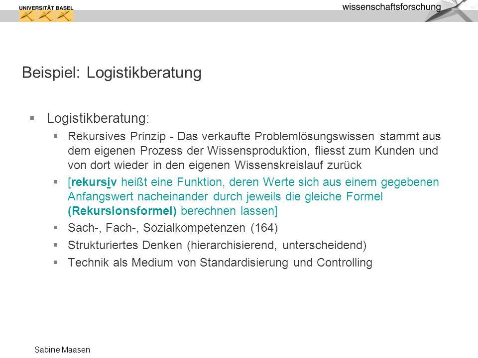 Beispiel: Logistikberatung