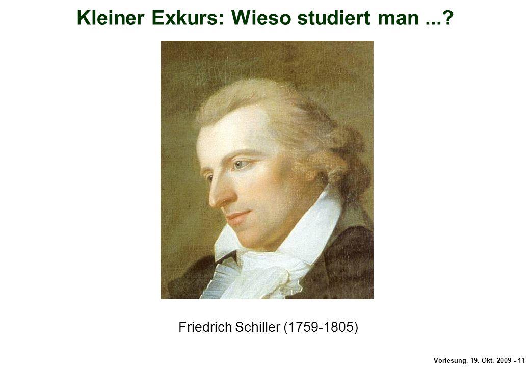 Kleiner Exkurs: Schiller
