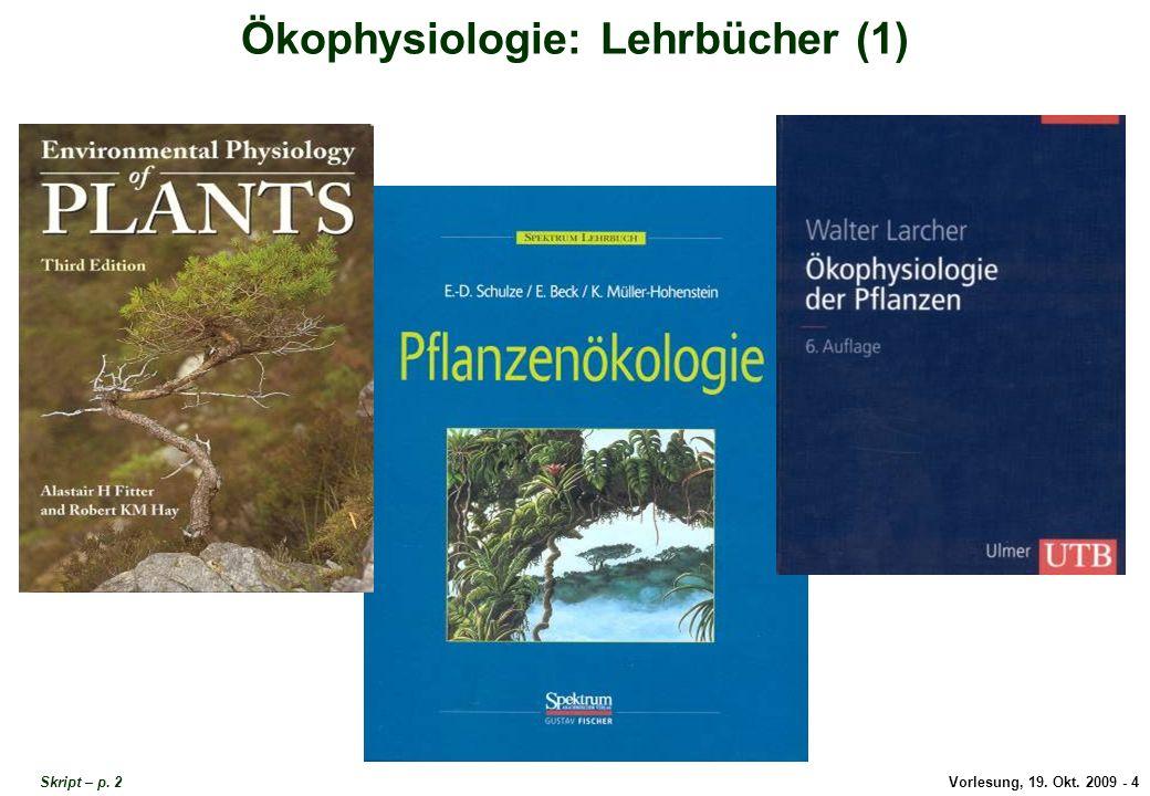 Ökophysiologie Lehrbücher 1