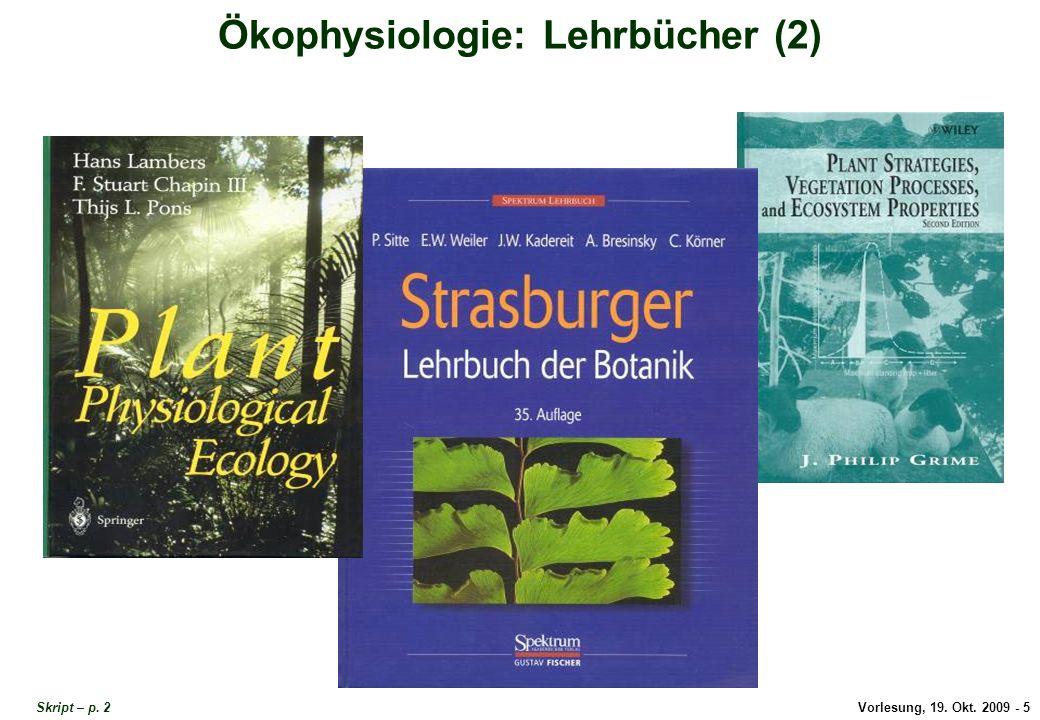 Ökophysiologie Lehrbücher 2