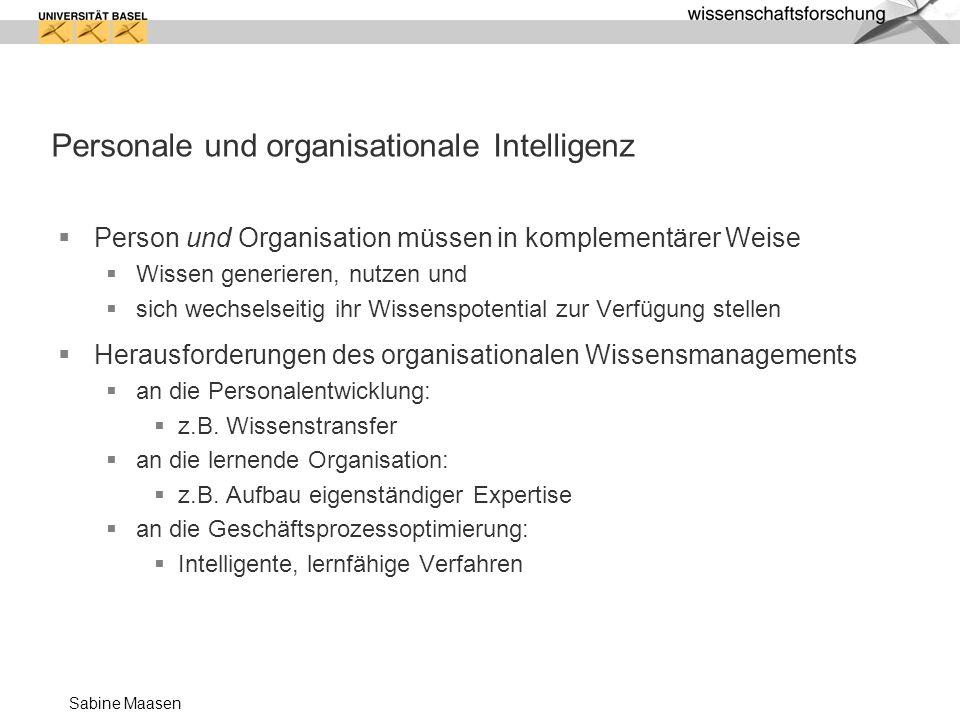 Personale und organisationale Intelligenz
