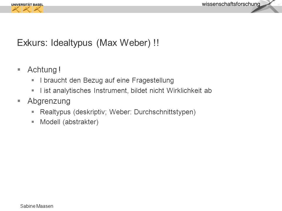 Exkurs: Idealtypus (Max Weber) !!