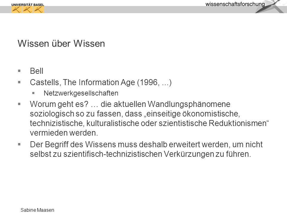 Wissen über Wissen Bell Castells, The Information Age (1996, ...)
