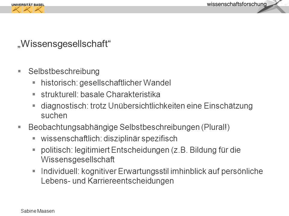 """""""Wissensgesellschaft"""