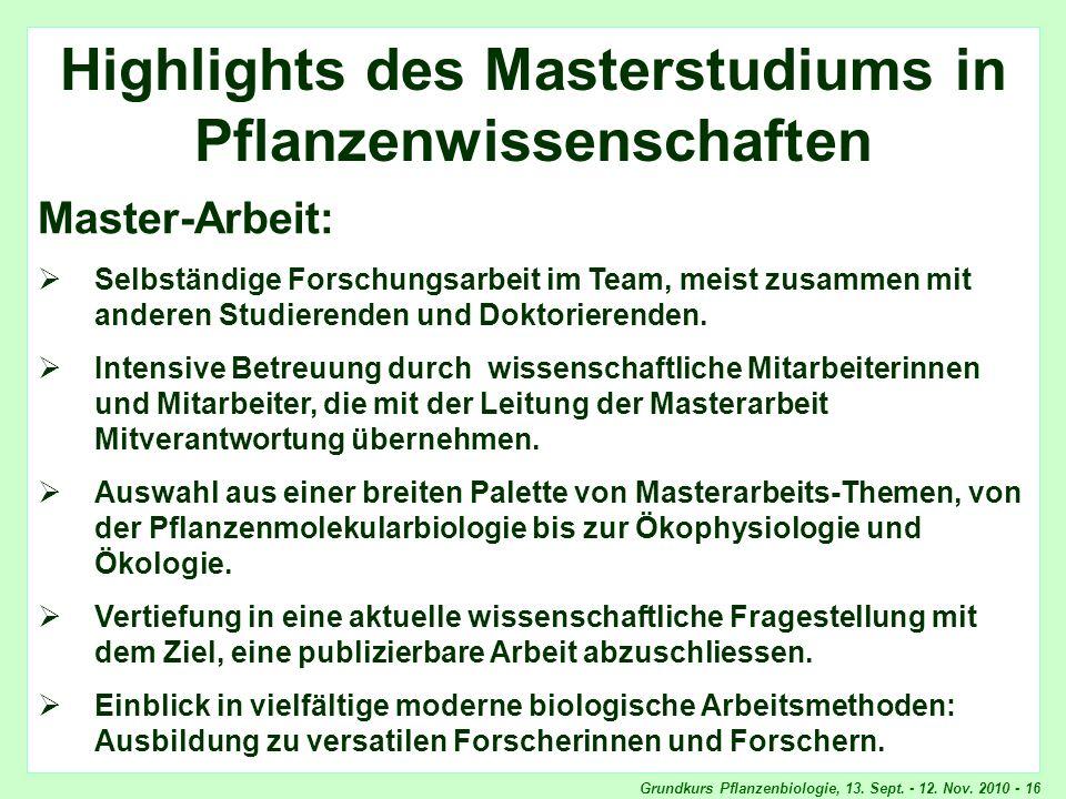 Highlights Master-Arbeit