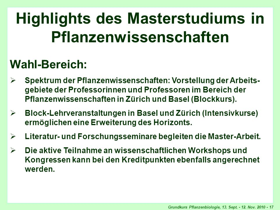 Highlights Wahlbereich