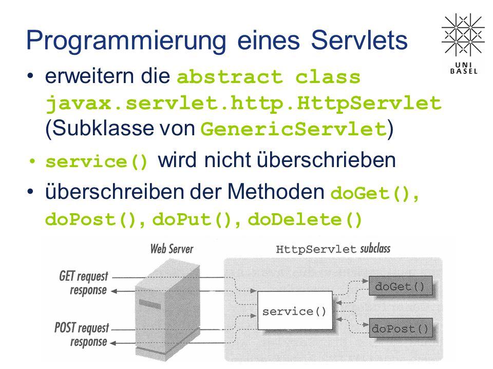 Programmierung eines Servlets