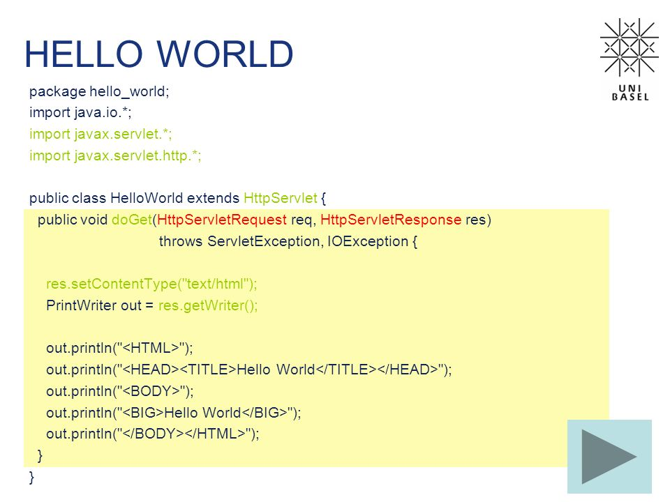 HELLO WORLD package hello_world; import java.io.*;