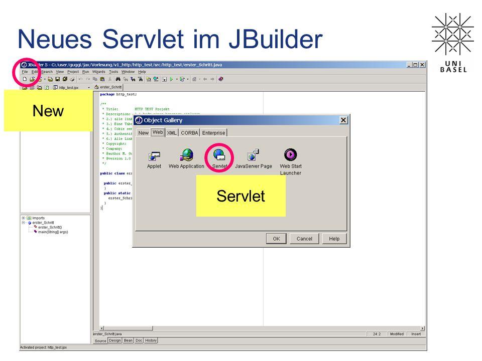 Neues Servlet im JBuilder