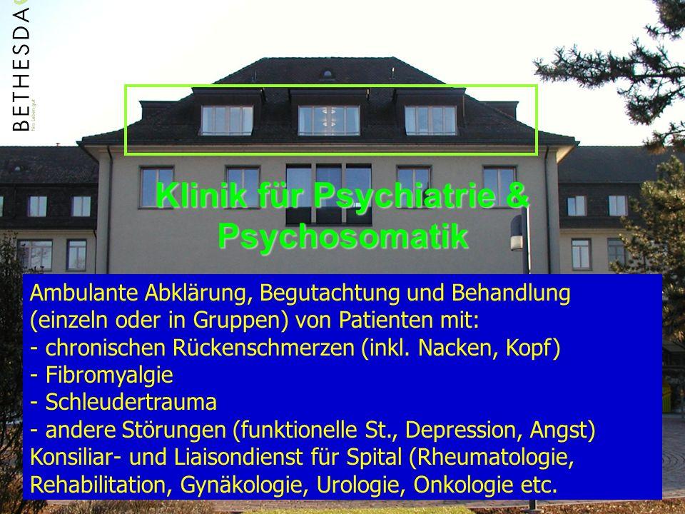 Klinik für Psychiatrie & Psychosomatik