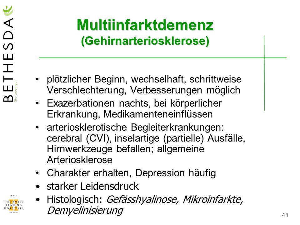Multiinfarktdemenz (Gehirnarteriosklerose)