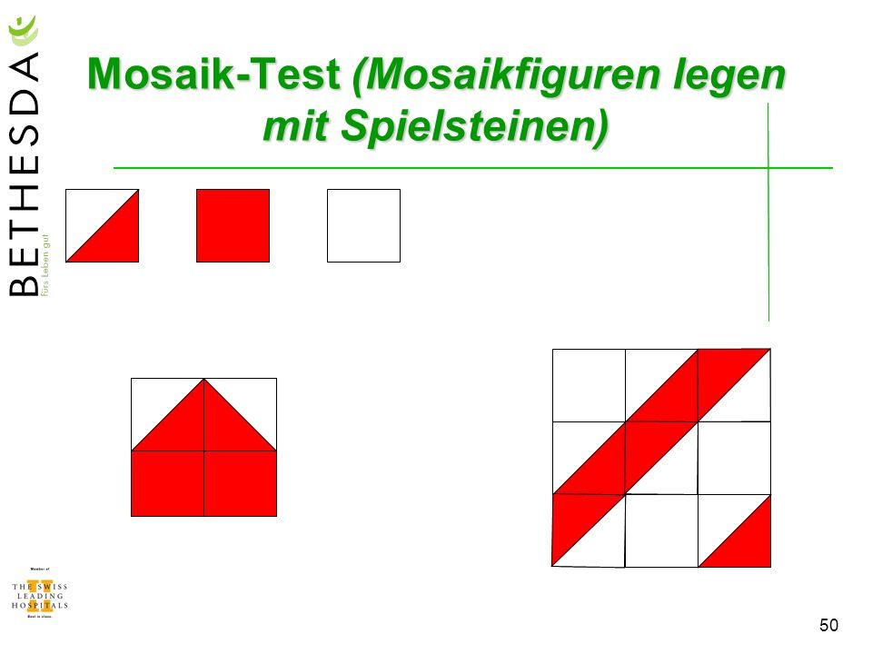 Mosaik-Test (Mosaikfiguren legen mit Spielsteinen)