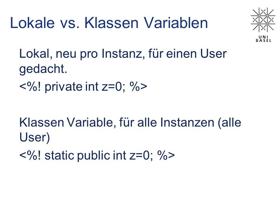 Lokale vs. Klassen Variablen