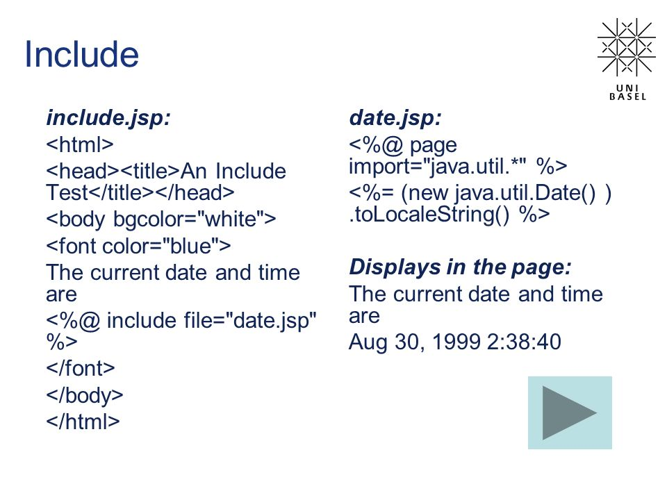 Include include.jsp: <html>