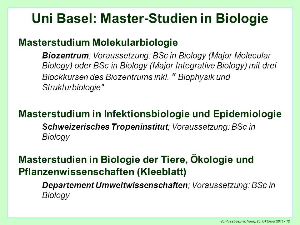 Überblick Masterstudien