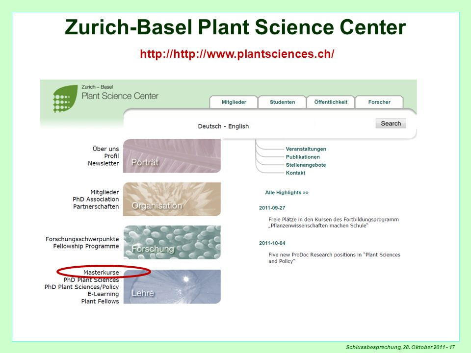 Zurich-Basel Plant Science Center