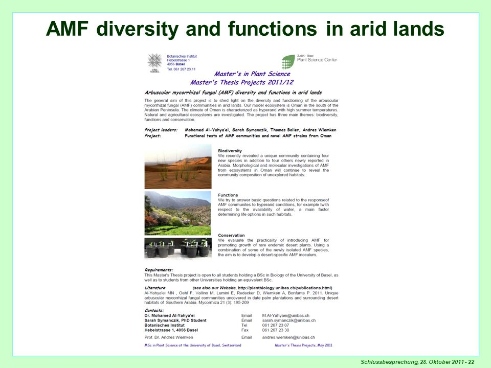 AMF diversity and functions in arid lands