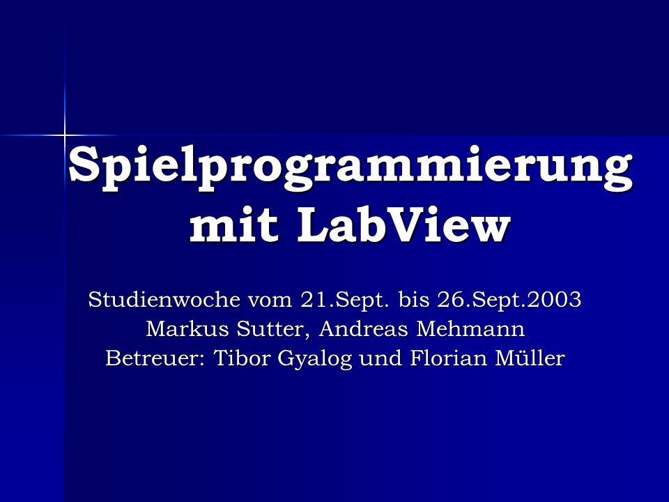 Spielprogrammierung mit LabView