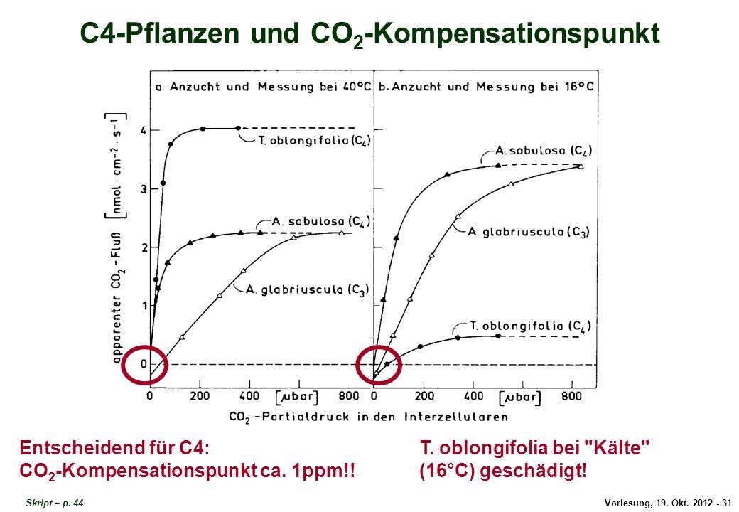 C4 und CO2-Kompensationspunkt