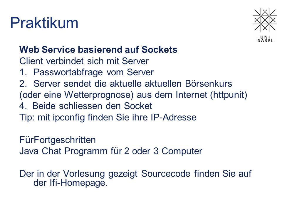 Praktikum Web Service basierend auf Sockets