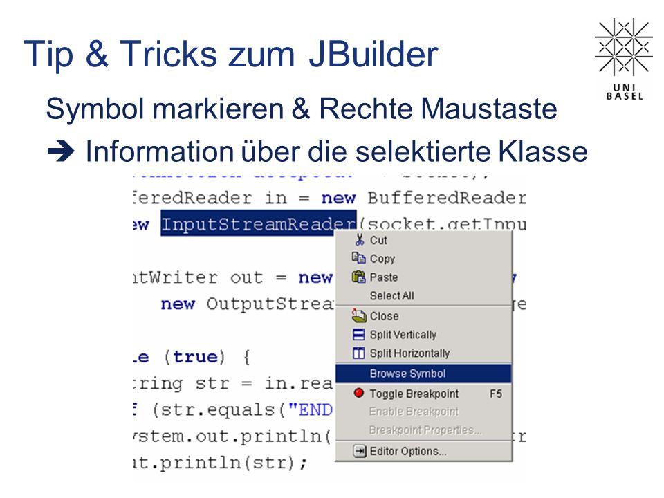 Tip & Tricks zum JBuilder