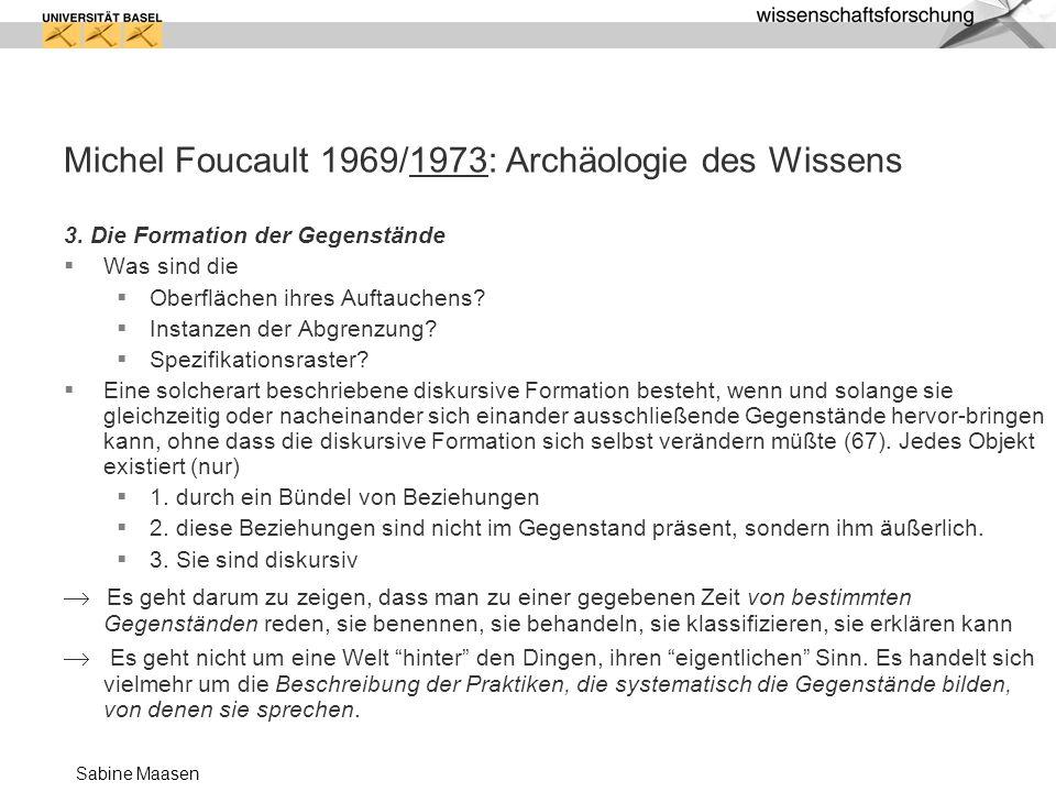 Michel Foucault 1969/1973: Archäologie des Wissens