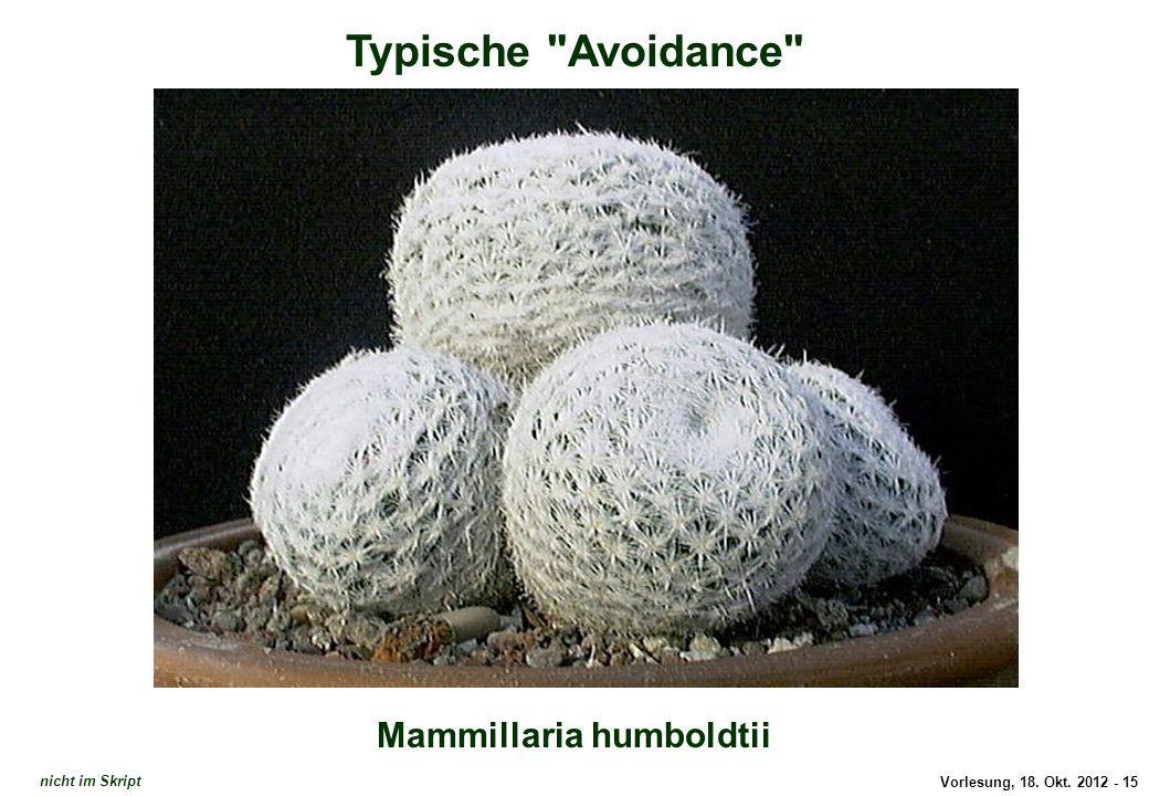 Typische Avoidance: Mammillaria