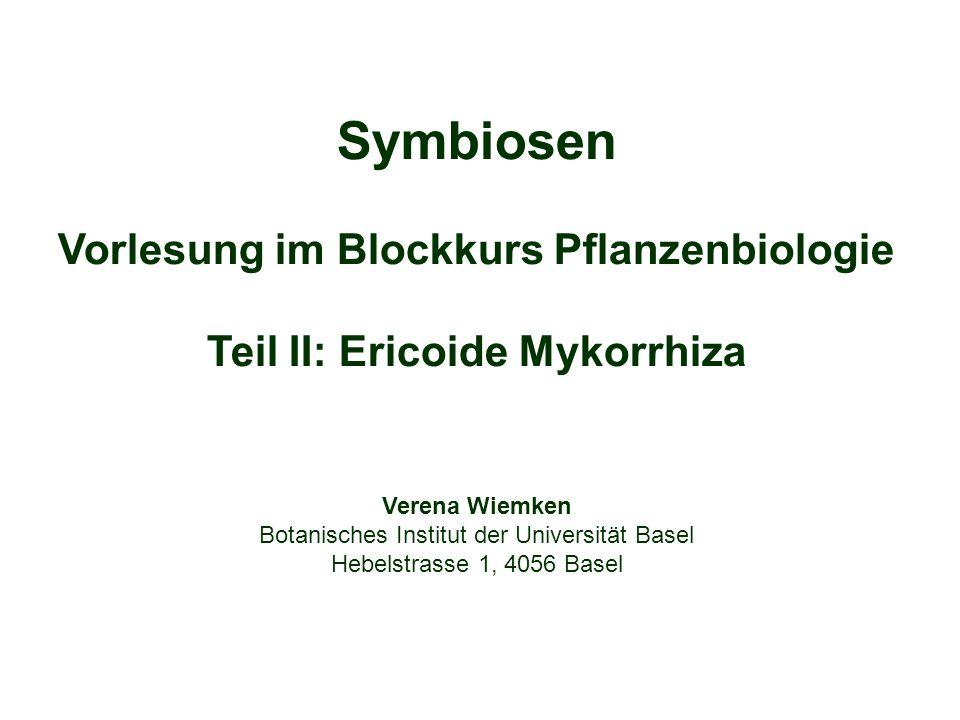Vorlesung im Blockkurs Pflanzenbiologie