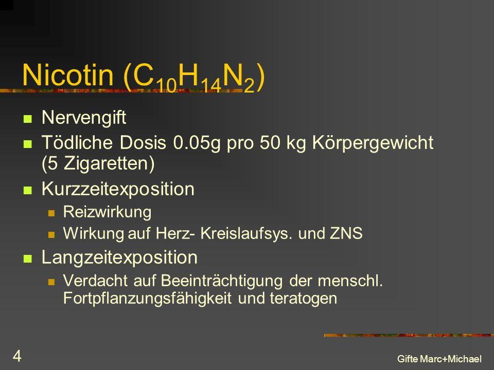 Nicotin (C10H14N2) Nervengift