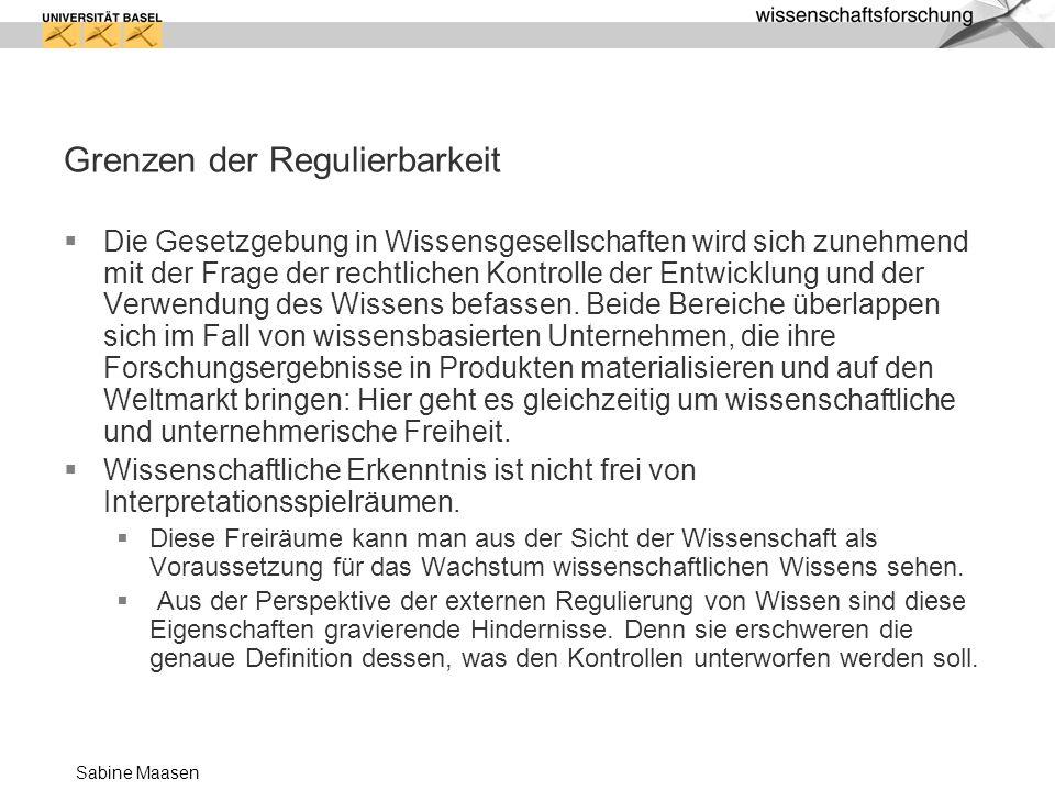 Grenzen der Regulierbarkeit