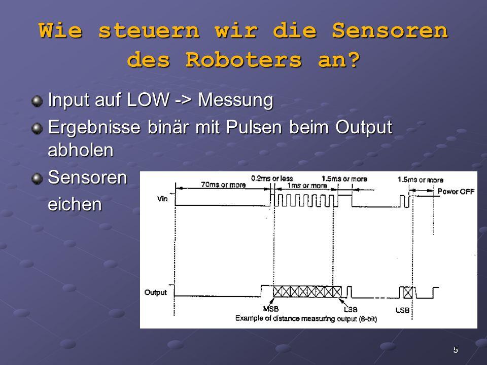 Wie steuern wir die Sensoren des Roboters an