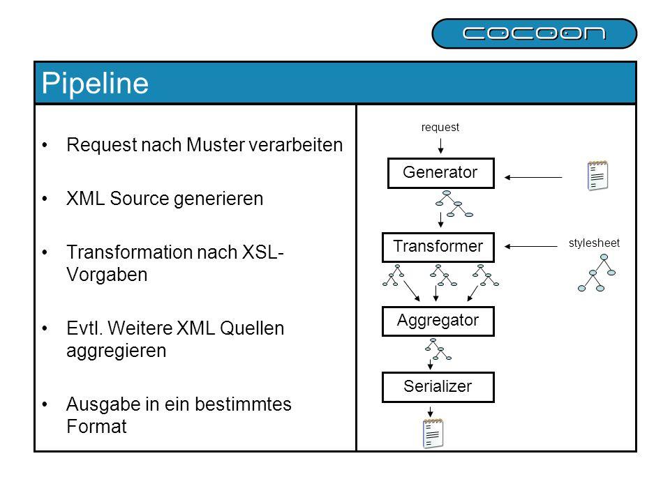 Pipeline Request nach Muster verarbeiten XML Source generieren