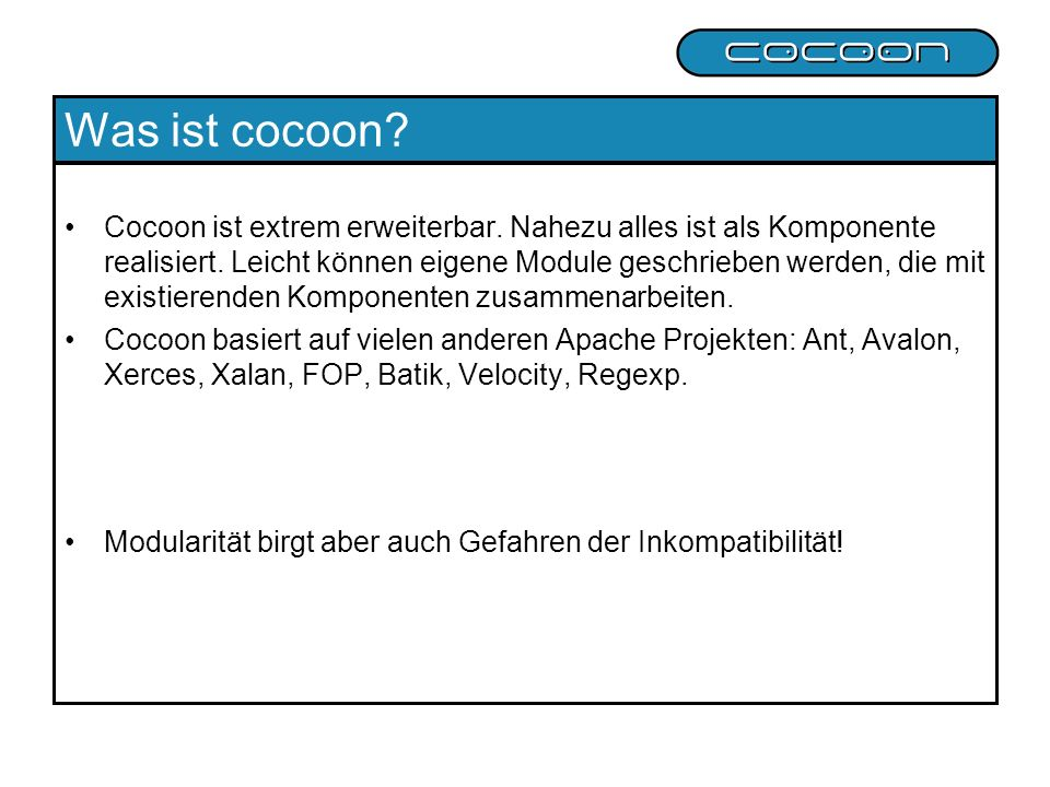 Was ist cocoon
