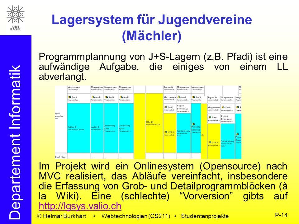 Lagersystem für Jugendvereine (Mächler)