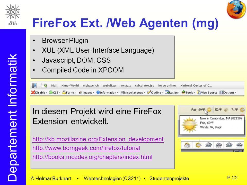 FireFox Ext. /Web Agenten (mg)