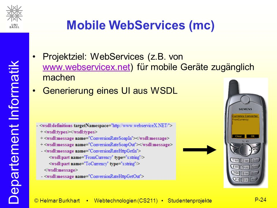 Mobile WebServices (mc)