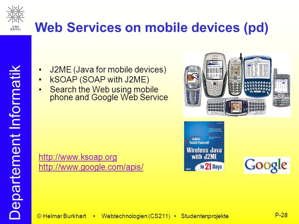Web Services on mobile devices (pd)