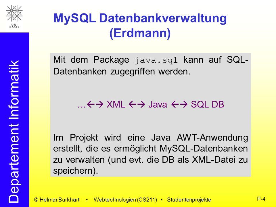 MySQL Datenbankverwaltung (Erdmann)