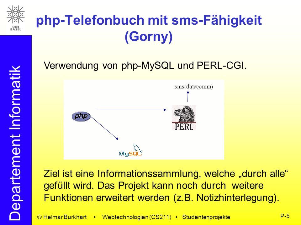 php-Telefonbuch mit sms-Fähigkeit (Gorny)