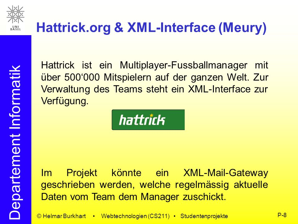 Hattrick.org & XML-Interface (Meury)