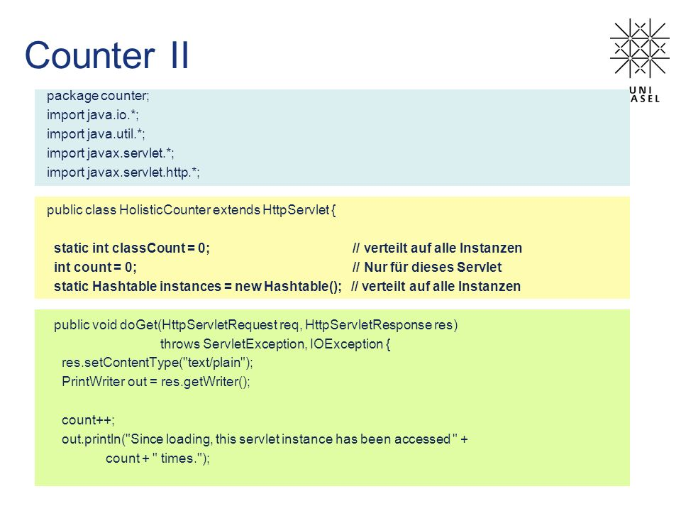 Counter II package counter; import java.io.*; import java.util.*;