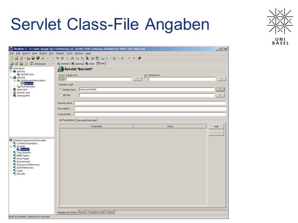 Servlet Class-File Angaben